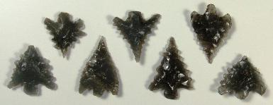 ACOTW - Arrowhead Collecting On The Web -- Obsidian arrowheads from northern California -- ex Jennifer Peterson